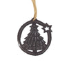 Christmas Tree with Star Haitian Metal Drum Christmas Ornament, 2-inch