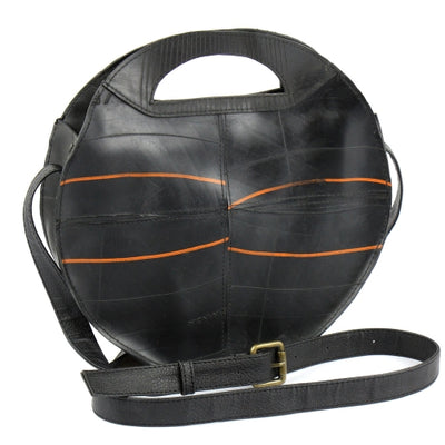 Recycled Rubber Round Shoulder Bag