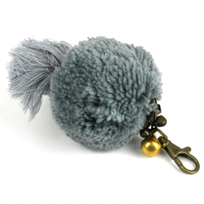 Boho Keychain Collection Uber Pom Pom, Grey