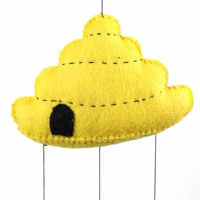 Hand Crafted Felt from Nepal: Mobile, Beehive