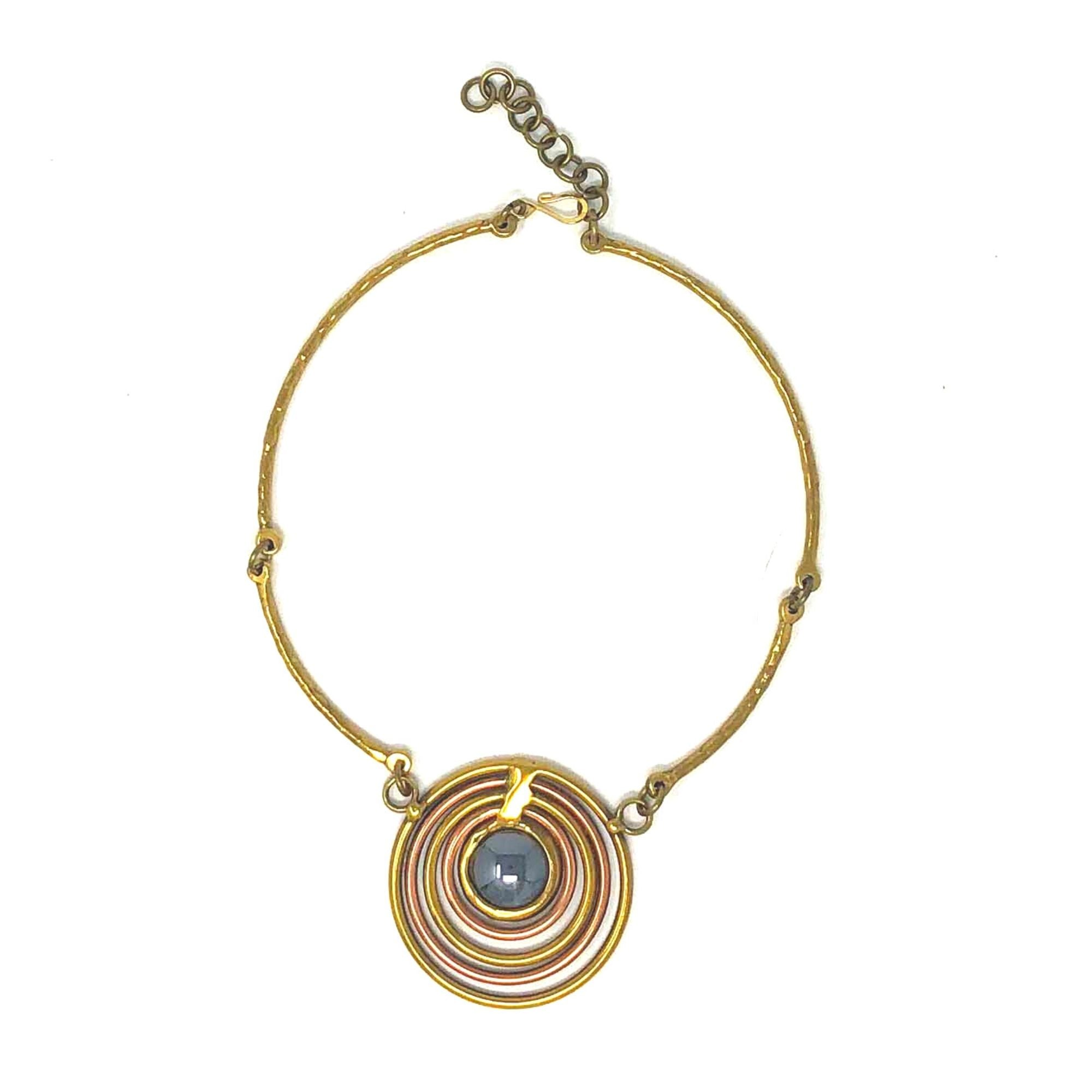 Concentric Hematite Necklace