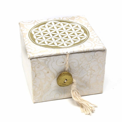 Meditation Bowl Box: 3 inch Flower Of Life