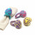 Hand Crafted Felt Easter Egg Napkin Rings, Set of Four Colors