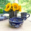 Encantada Handmade Pottery 5.5-inch, Set of 2 Bowls, Blue