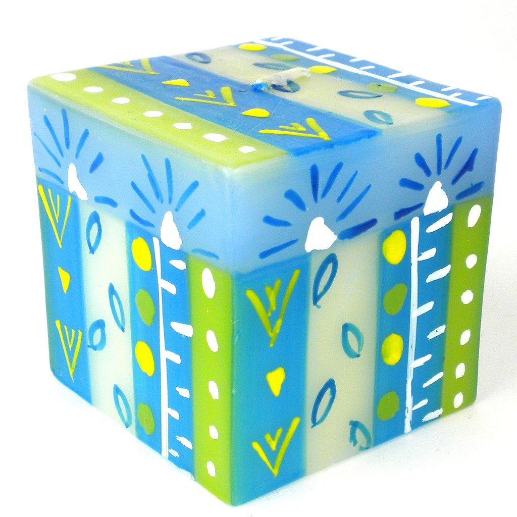 Hand-Painted Cube Candle (Ihlobo Design)