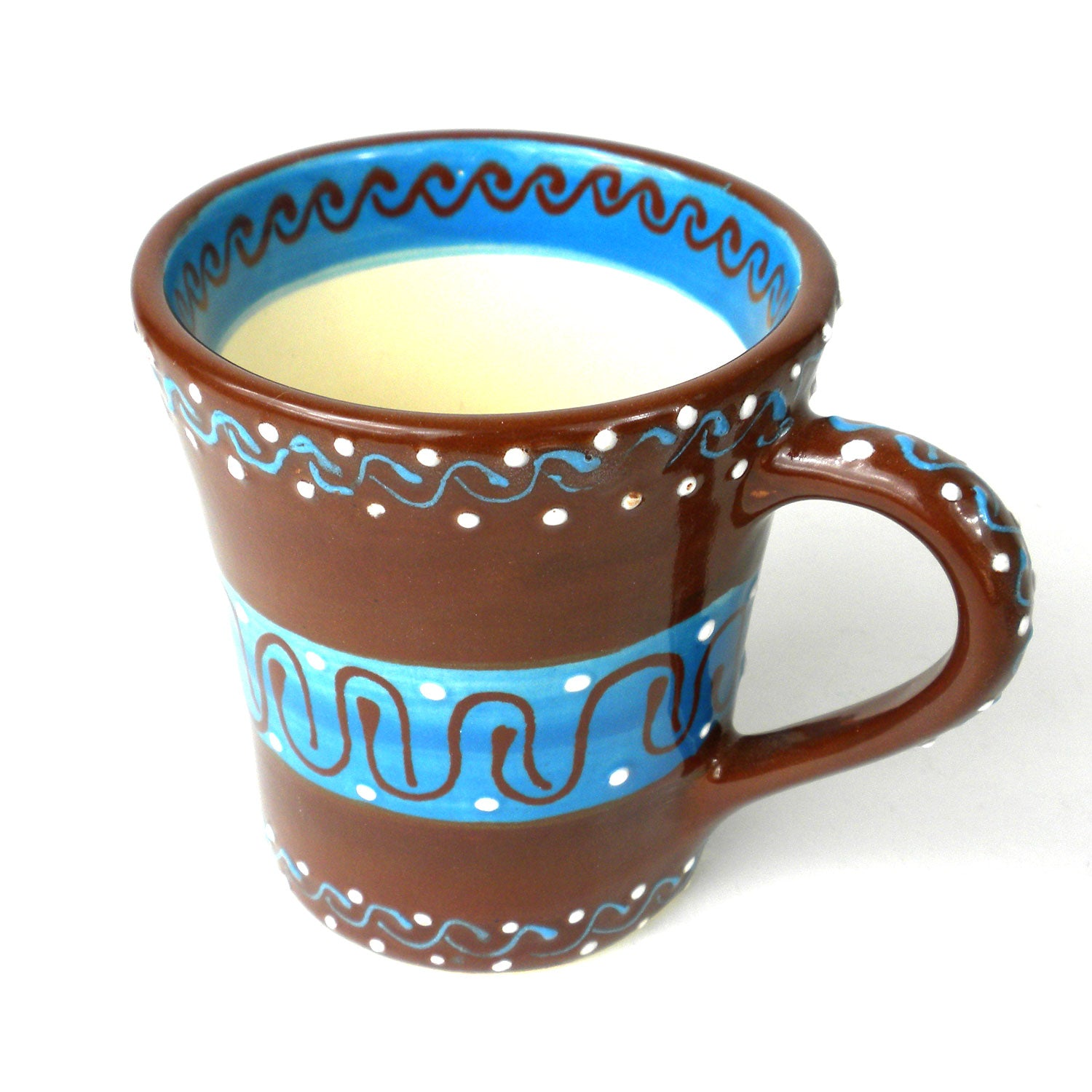 Encantada Handmade Pottery Mug, Flared Chocolate