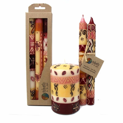 Hand-Painted Dinner Candles, Pair (Halisi Design)