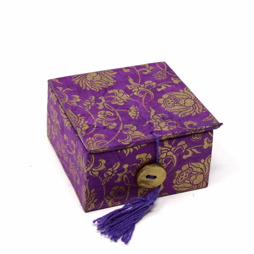 Mini Meditation Bowl Box: 2in Lotus, Purple