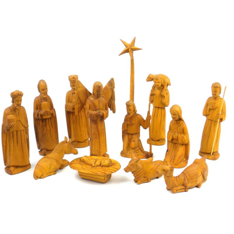 Olive Wood Nativity Set- Kenya