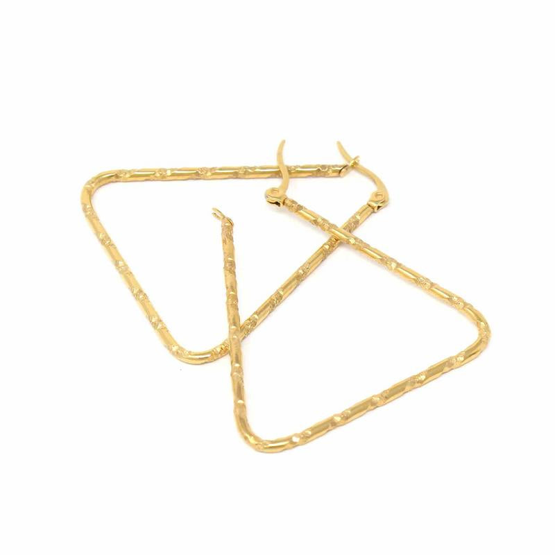Earrings: 18k Gold Plated Open Triangles