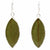 Pressed Botanical Leaves Drop Earrings