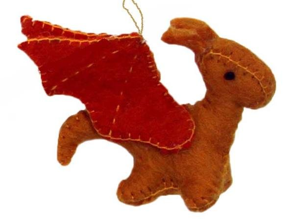 Sun Dragon Felt Ornament