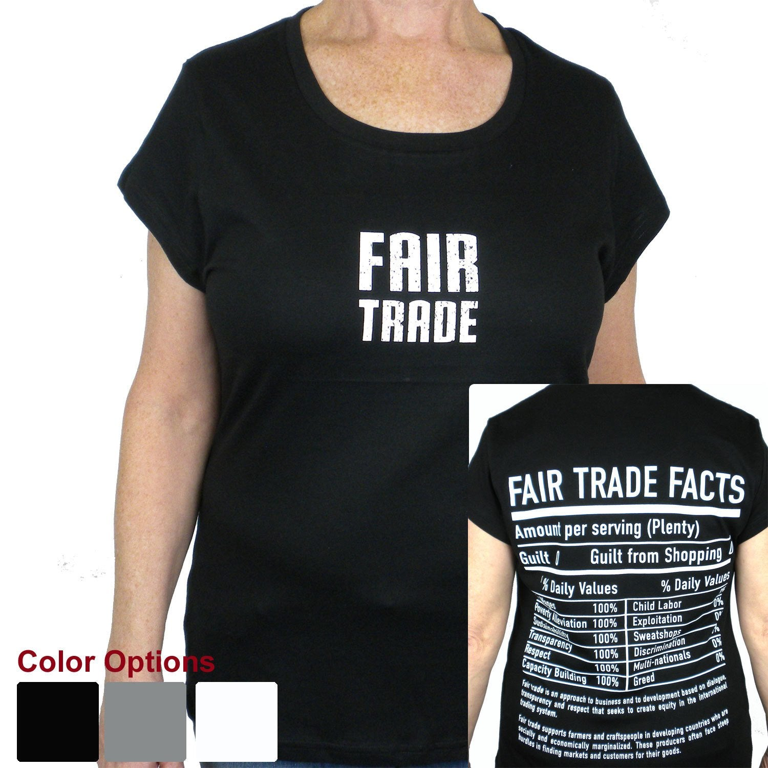 Black Tee Shirt Small FT Front - FT Facts on Back - Medium