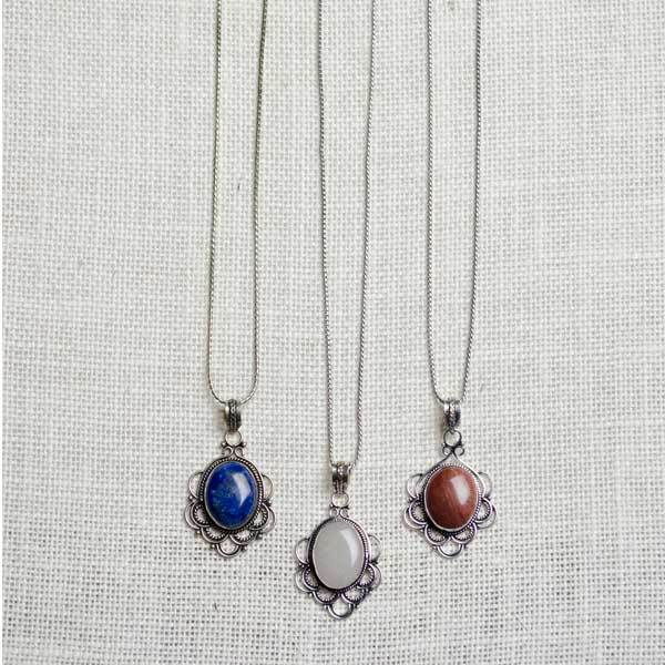 Mod Pendant Necklace - Assorted Colors