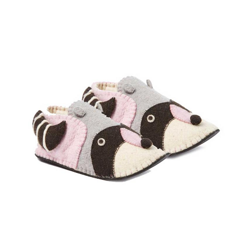 Raccoon Slippers Adult Medium