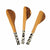 Olive Wood & Bone Appetizer Spreaders, Set of 3