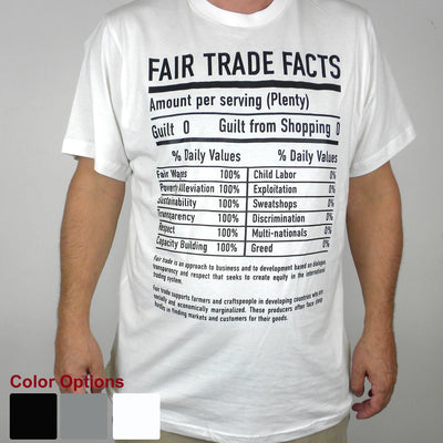 White Tee Shirt FT Facts on Front - Unisex Large
