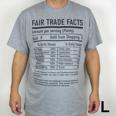 Gray Tee Shirt FT Facts on Front - Unisex Small