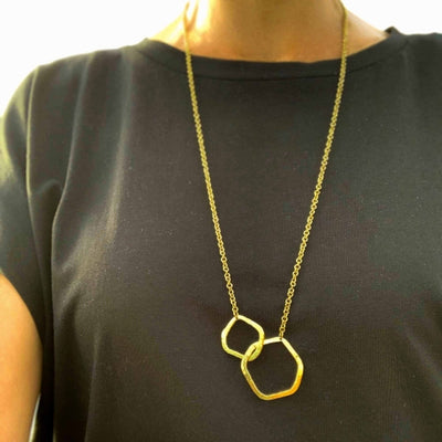 Brass Infinity Loop Necklace