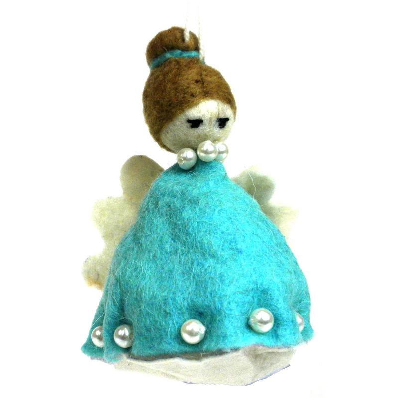 Felt Magic Angel Ornament - Blue