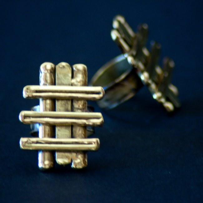 Picket Fence Brass Ring
