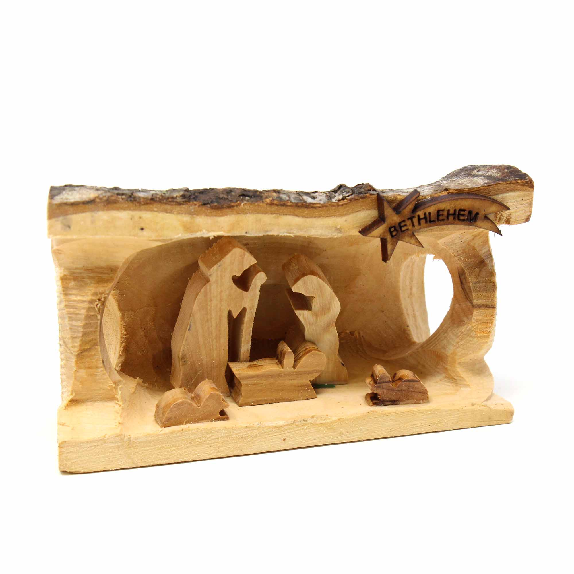 Olive Wood Nativity Scene - Bethlehem Star
