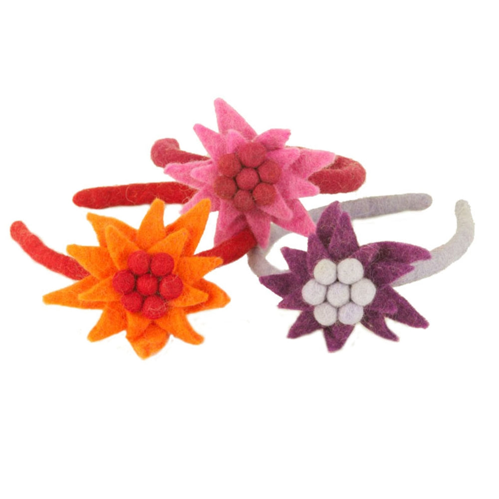 Water Lily Felt Headband, Assorted Colors