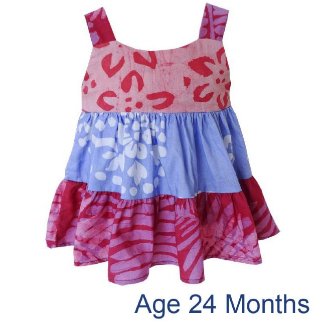 Gypsy Dress Patchwork Pink 24M