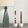 Hand-Painted Dinner Candles, Pair (Damisi Design)