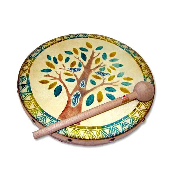 Frame Drum Blooming Tree - J0571