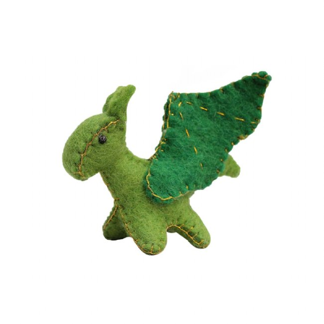 Forest Dragon Felt Ornament