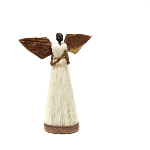 5 Inch Sisal Angel Ornament, Hands In Prayer