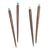 Rosewood Jewel Hair Pins (Set of 4)