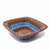 Encantada Handmade Pottery 8-inch Square Bowl, Chocolate