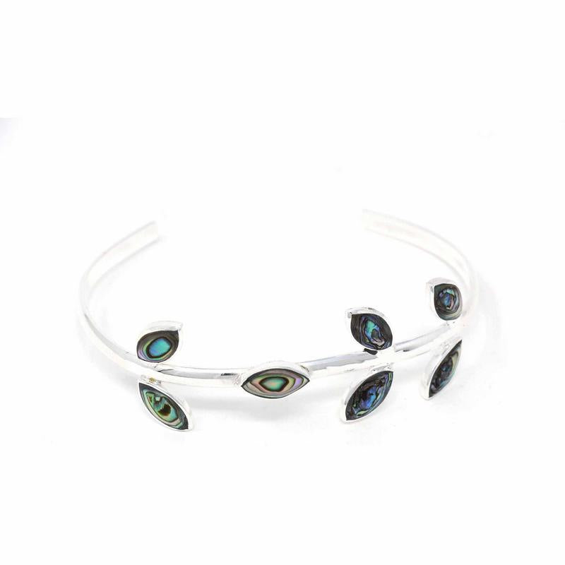 Abalone Leaves Cuff Bracelet