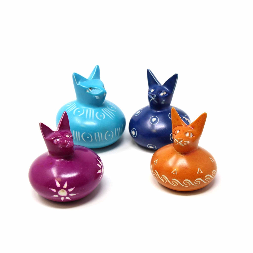 Soapstone Round Body Small 2-3 inch Cats