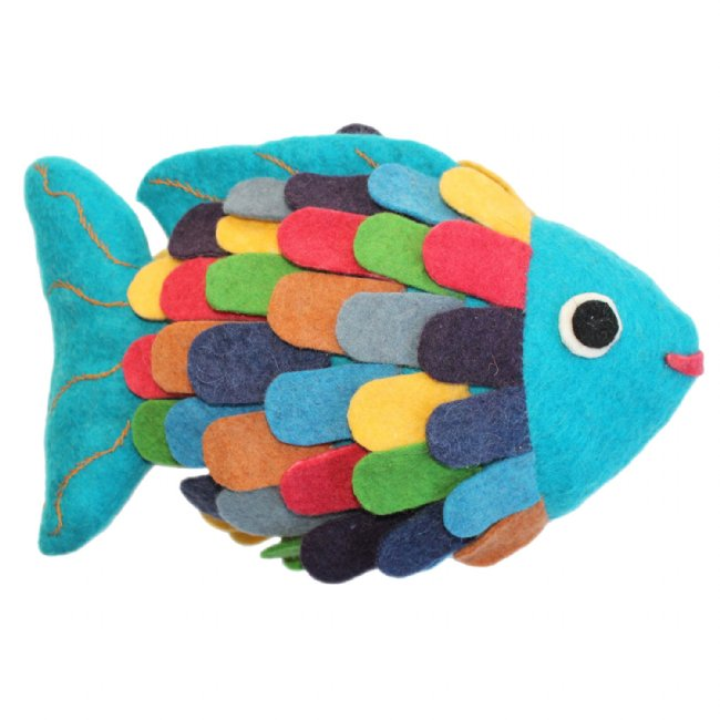 Fish Shaped Throw Pillow