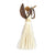 3.5 inch Sisal Angel Ornament - Horn