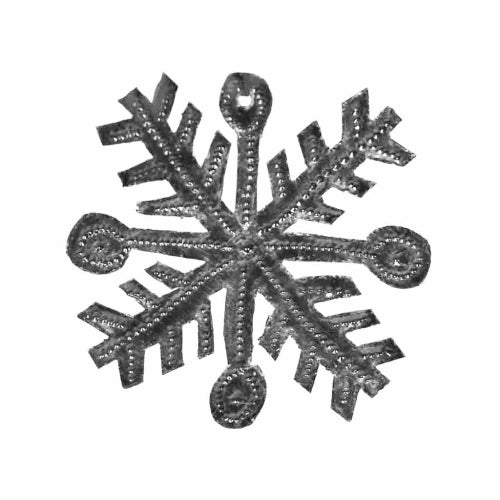 "Snowflake Haitian Metal Drum Christmas Ornament (3"" x 3"")"