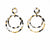 Light Tortoise Shell Double Circle Drop Earrings