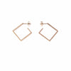 Rose Gold Plated 2D Diamond Shape Earrings