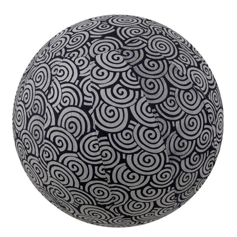 Yoga Collection 65cm Yoga Ball Cover, Black Swirl