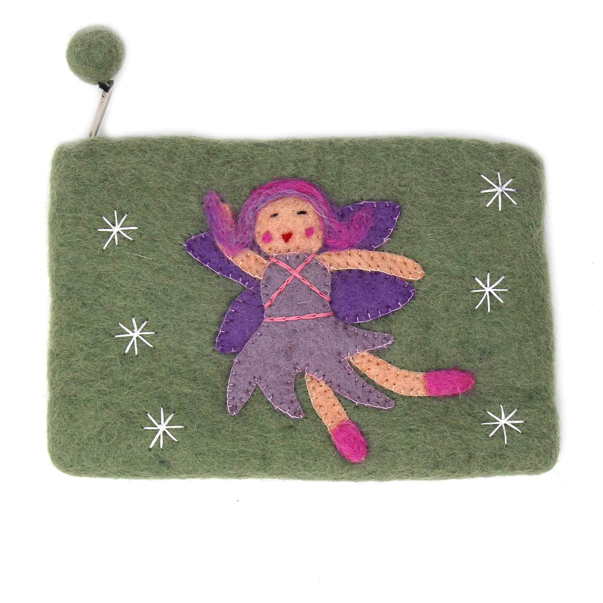 Fairy Felt Zipper Pouch