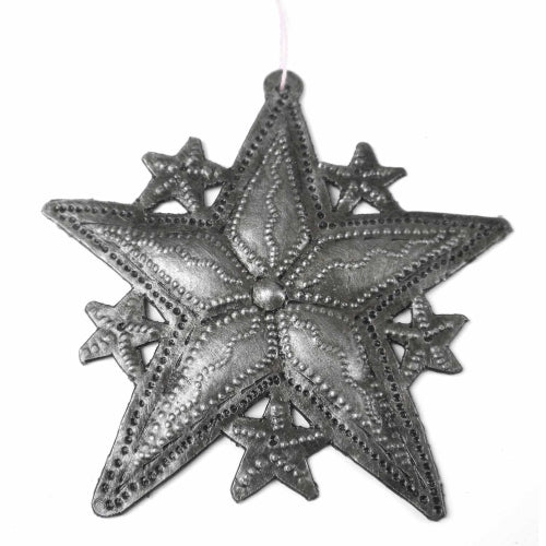 "Stars Haitian Metal Drum Christmas Ornament (3.5"" x 3.5"")"