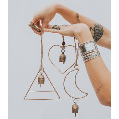 Air Element Bell Chime - Heart