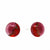 Round Glass Stud Earrings - Red Red