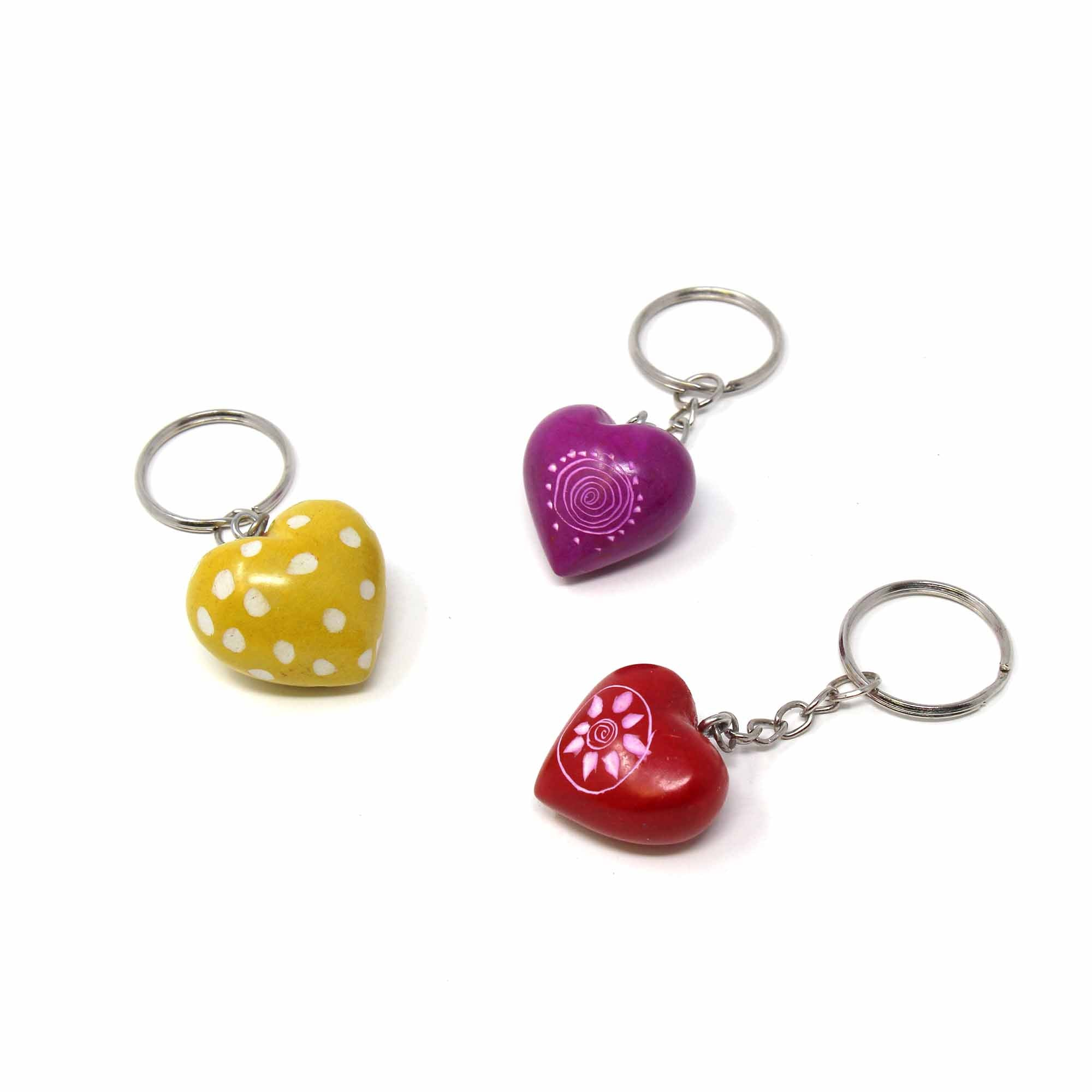 Soapstone Heart Keyrings