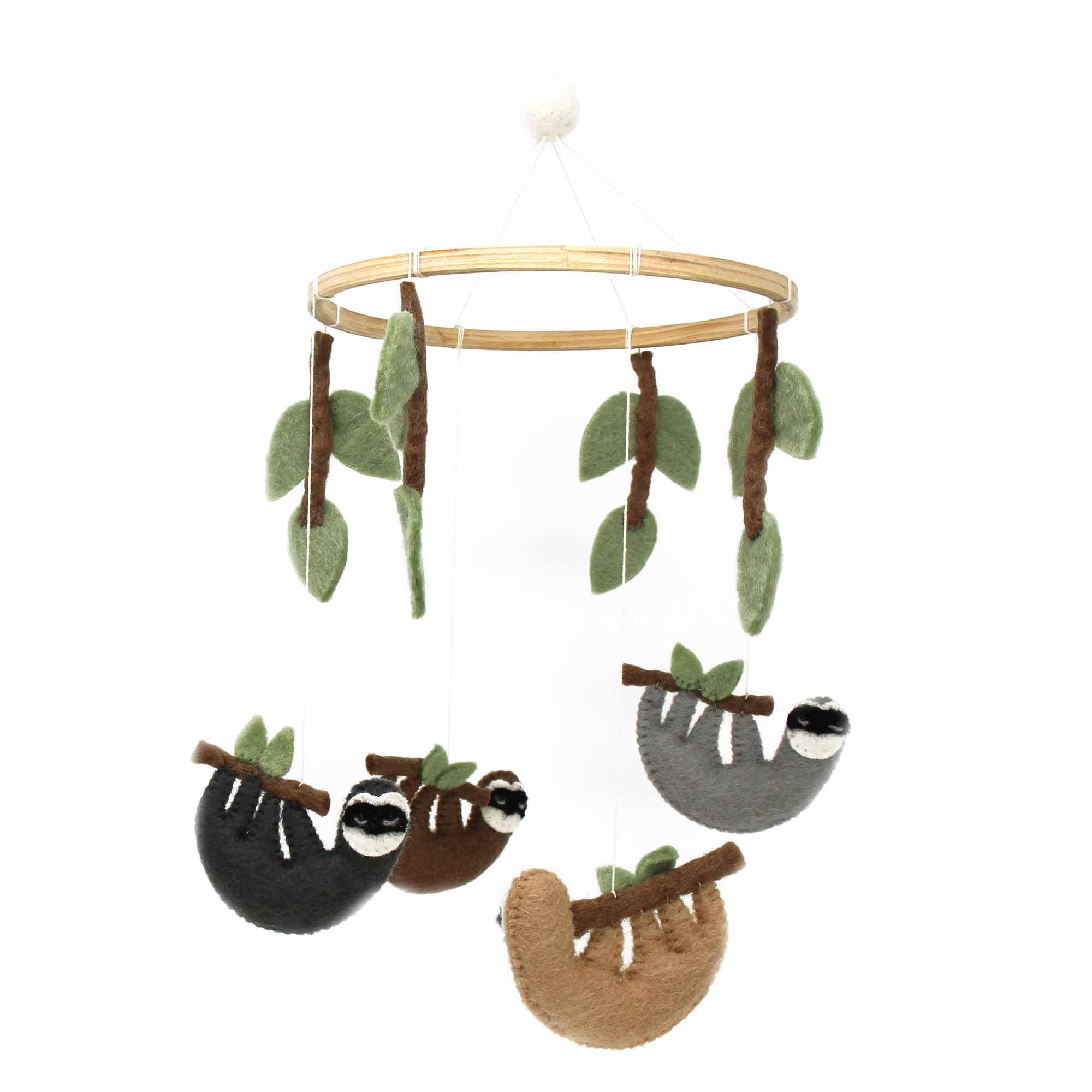 Sloths Felt Nursery Mobile