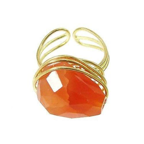 Agate Ring - orange