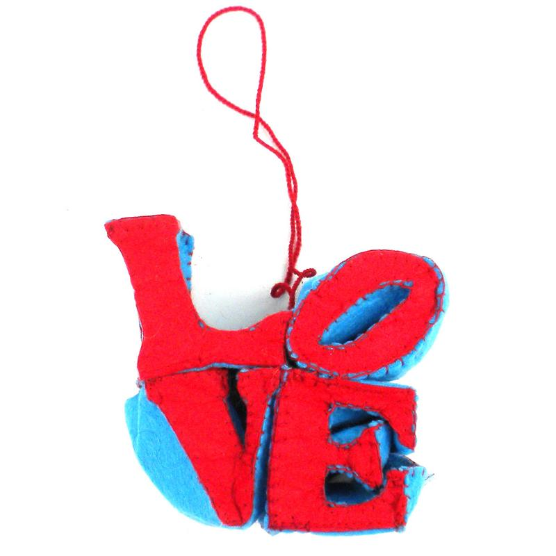 Felt Love Ornament